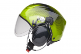 Green IC2 PPG Helmet (Shows short visor)