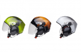 Helmet Colours showing short and long visors