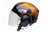 Orange IC2 PPG Helmet (Shows long Visor)