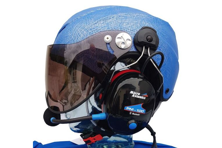 Scratch Blue with PM-100 Headset (short visor shaded)